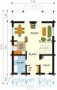 78-proekt.ru - Проект Одноквартирного Дома №153.  План Первого Этажа
