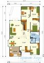78-proekt.ru - Проект Одноквартирного Дома №334.  План Первого Этажа