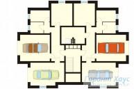 78-proekt.ru - Проект Двухквартирного Дома №13.  План Подвала