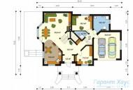 78-proekt.ru - Проект Одноквартирного Дома №117.  План Первого Этажа