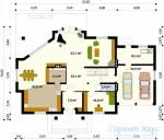 78-proekt.ru - Проект Одноквартирного Дома №9.  План Первого Этажа