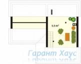 78-proekt.ru - Проект Дачного Дома №16.  План Второго Этажа