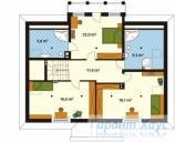 78-proekt.ru - Проект Одноквартирного Дома №222.  План Второго Этажа