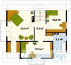 78-proekt.ru - Проект Одноквартирного Дома №189.  План Второго Этажа