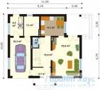 78-proekt.ru - Проект Одноквартирного Дома №67.  План Первого Этажа