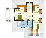 78-proekt.ru - Проект Одноквартирного Дома №147.  План Второго Этажа