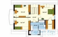 78-proekt.ru - Проект Одноквартирного Дома №239.  План Второго Этажа