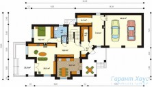 78-proekt.ru - Проект Одноквартирного Дома №266.  План Первого Этажа