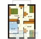 78-proekt.ru - Проект Одноквартирного Дома №288.  План Второго Этажа