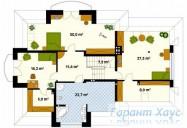 78-proekt.ru - Проект Одноквартирного Дома №36.  План Второго Этажа