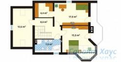 78-proekt.ru - Проект Одноквартирного Дома №167.  План Второго Этажа