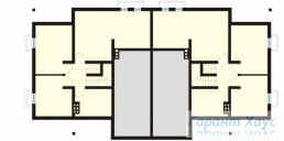 78-proekt.ru - Проект Двухквартирного Дома №5.  План Подвала