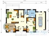 78-proekt.ru - Проект Одноквартирного Дома №132.  План Первого Этажа
