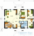 78-proekt.ru - Проект Одноквартирного Дома №298.  План Первого Этажа