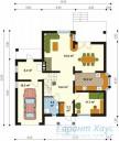 78-proekt.ru - Проект Одноквартирного Дома №304.  План Первого Этажа