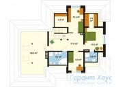 78-proekt.ru - Проект Одноквартирного Дома №4.  План Второго Этажа