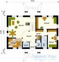 78-proekt.ru - Проект Одноквартирного Дома №301.  План Первого Этажа