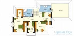 78-proekt.ru - Проект Одноквартирного Дома №266.  План Второго Этажа