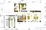 78-proekt.ru - Проект Одноквартирного Дома №12.  План Первого Этажа