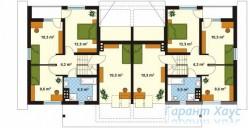 78-proekt.ru - Проект Двухквартирного Дома №5.  План Второго Этажа