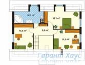 78-proekt.ru - Проект Одноквартирного Дома №48.  План Второго Этажа