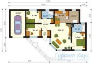 78-proekt.ru - Проект Одноквартирного Дома №280.  План Первого Этажа
