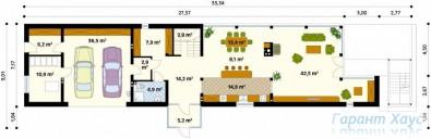 78-proekt.ru - Проект Одноквартирного Дома №87.  План Первого Этажа