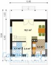 78-proekt.ru - Проект Дачного Дома №11.  План Первого Этажа