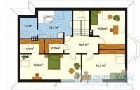 78-proekt.ru - Проект Одноквартирного Дома №131.  План Второго Этажа