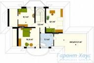 78-proekt.ru - Проект Одноквартирного Дома №20.  План Второго Этажа