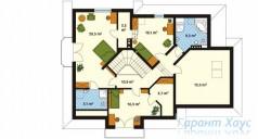 78-proekt.ru - Проект Одноквартирного Дома №117.  План Второго Этажа