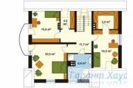 78-proekt.ru - Проект Одноквартирного Дома №212.  План Второго Этажа