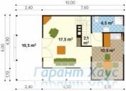 78-proekt.ru - Проект Дачного Дома №14.  План Первого Этажа