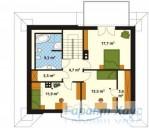 78-proekt.ru - Проект Одноквартирного Дома №83.  План Второго Этажа