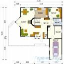 78-proekt.ru - Проект Одноквартирного Дома №43.  План Первого Этажа