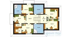 78-proekt.ru - Проект Одноквартирного Дома №344.  План Второго Этажа