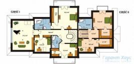 78-proekt.ru - Проект Двухквартирного Дома №16.  План Второго Этажа