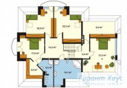 78-proekt.ru - Проект Одноквартирного Дома №34.  План Второго Этажа