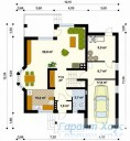 78-proekt.ru - Проект Одноквартирного Дома №340.  План Первого Этажа