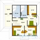 78-proekt.ru - Проект Одноквартирного Дома №202.  План Второго Этажа