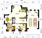 78-proekt.ru - Проект Одноквартирного Дома №39.  План Первого Этажа