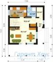 78-proekt.ru - Проект Одноквартирного Дома №292.  План Первого Этажа