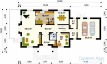 78-proekt.ru - Проект Одноквартирного Дома №324.  План Первого Этажа