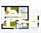 78-proekt.ru - Проект Одноквартирного Дома №184.  План Второго Этажа