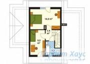 78-proekt.ru - Проект Одноквартирного Дома №196.  План Второго Этажа