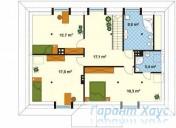 78-proekt.ru - Проект Одноквартирного Дома №221.  План Второго Этажа