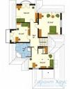 78-proekt.ru - Проект Одноквартирного Дома №265.  План Второго Этажа