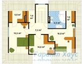 78-proekt.ru - Проект Одноквартирного Дома №237.  План Второго Этажа