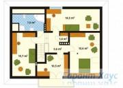 78-proekt.ru - Проект Одноквартирного Дома №66.  План Второго Этажа