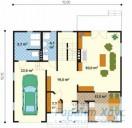 78-proekt.ru - Проект Одноквартирного Дома №237.  План Первого Этажа
